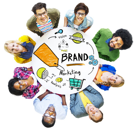 39196980 - diverse people aerial view meeting marketing brand concept