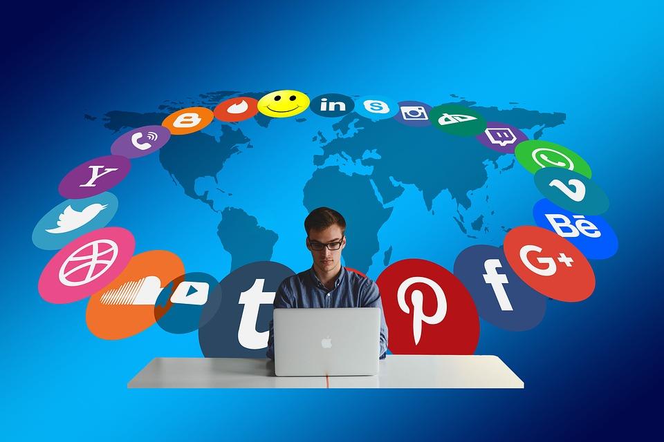 Press releases through social media