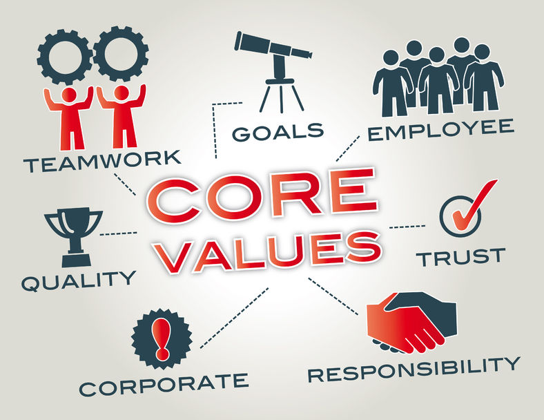 Core values distinguish you